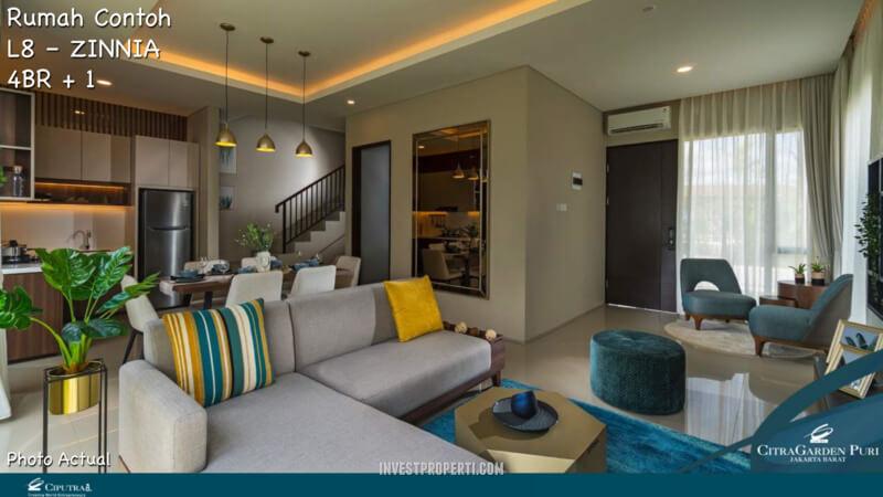 Rumah Contoh Elecio Citra Garden Puri Living Room
