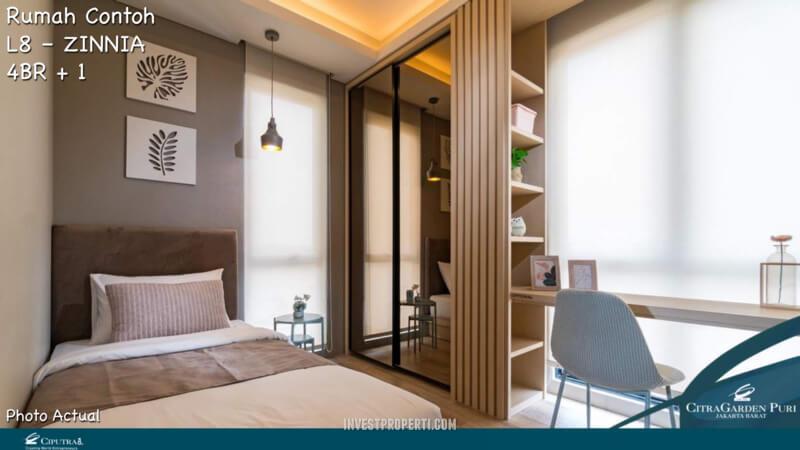 Rumah Contoh Elecio Citra Garden Puri Master Bedroom