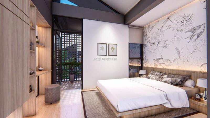 Master Bedroom Rumah O2 Essential Home Grand Wisata Bekasi Full Furnished