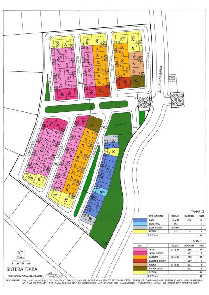 Siteplan Rumah Sutera Tiara