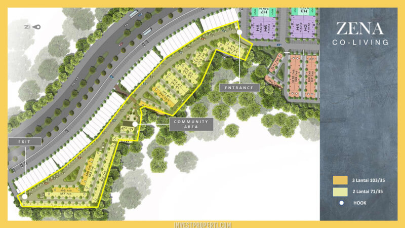 Zena at The Mozia BSD (Co-Living) Siteplan