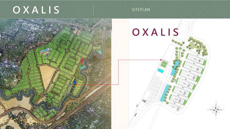 Lokasi Cluster Oxalis Metland Puri
