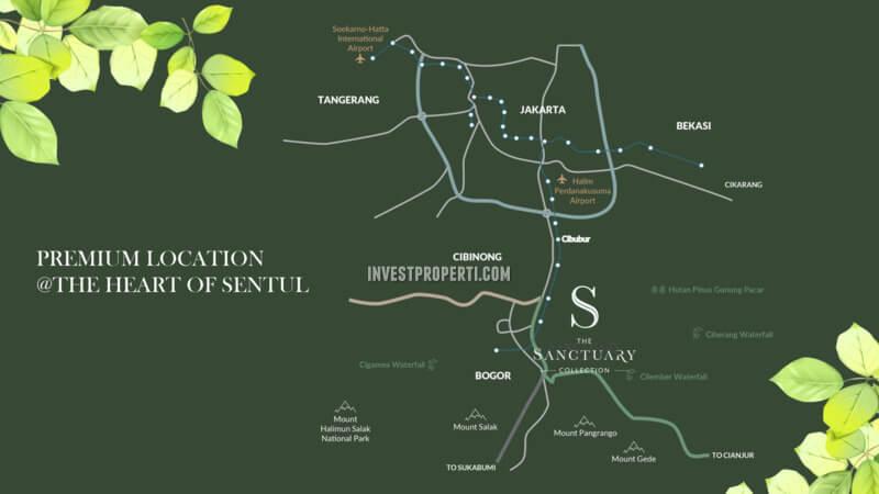 Peta Lokasi The Sanctuary Collection Sentul City