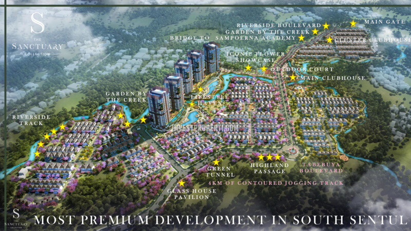 Posisi Cluster The Sanctuary Collection Sentul City