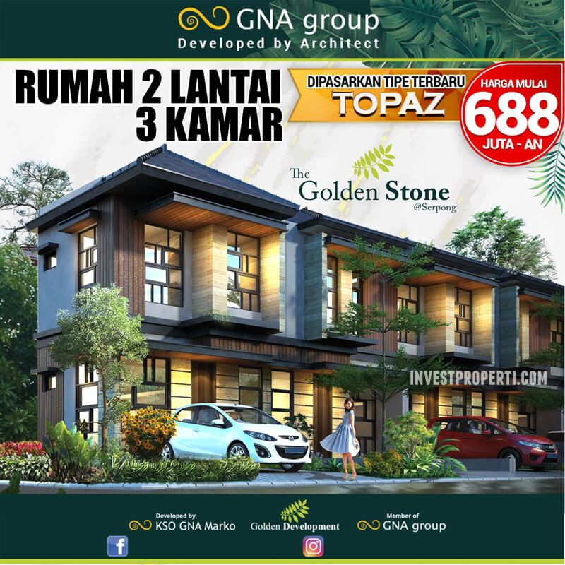 Rumah Golden Stone Serpong Tipe Topaz