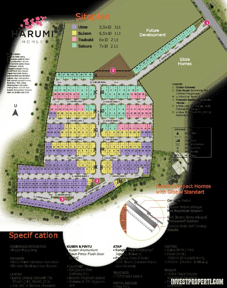 Siteplan Harumi Homes - Summarecon Emerald Karawang