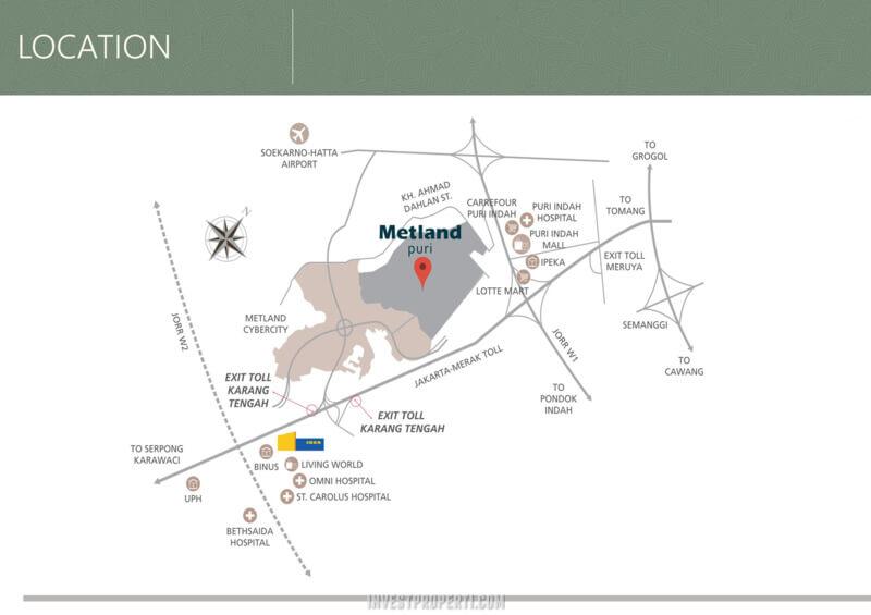 Peta Lokasi Metland Puri