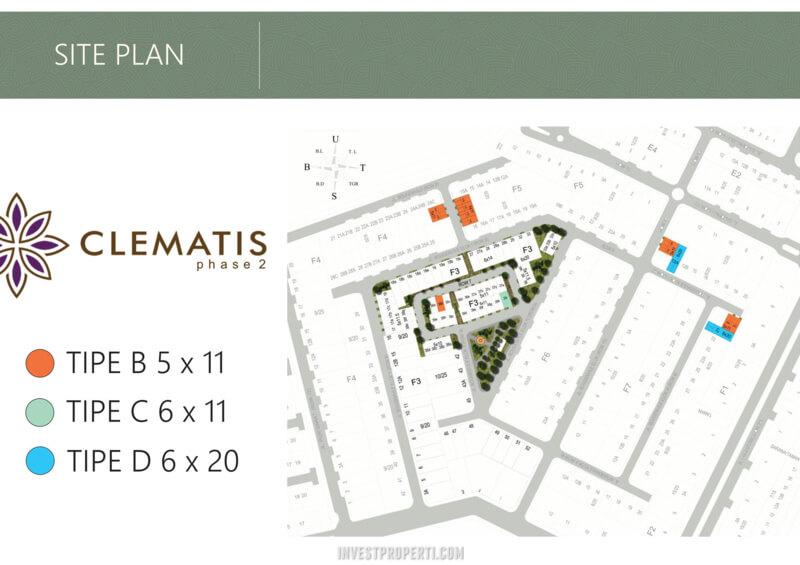 Site Plan Cluster Clematis Metland Puri Tahap 2