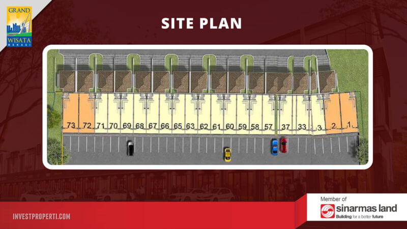 Siteplan Ruko WestField Grand Wisata Bekasi