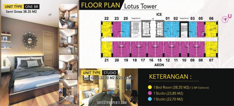 Floor Plan B-Residence BSD Tower Lotus