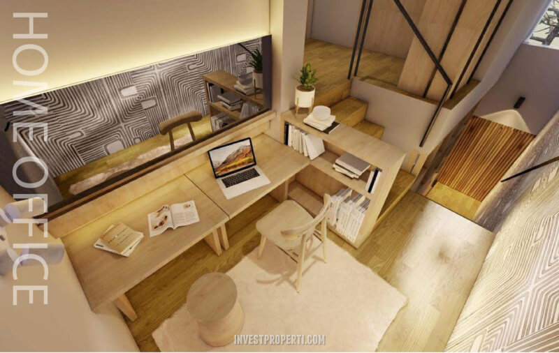 Design Rumah InvensiHaus R - Home Office