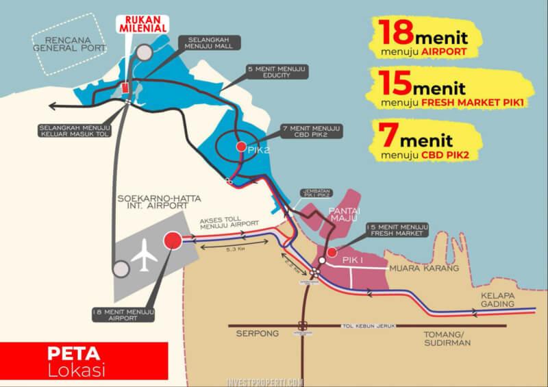 Lokasi Rukan Milenial PIK2 Jakarta
