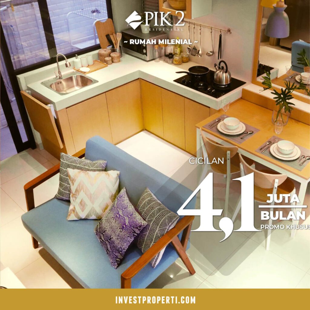 Rumah Cluster California PIK 2 - Kitchen Interior