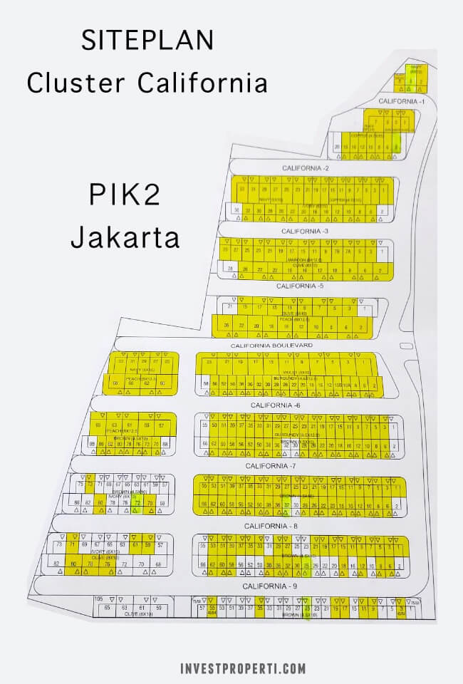 Site Plan Cluster California PIK 2