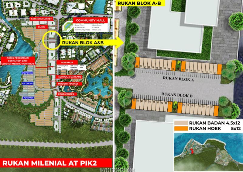 Siteplan Rukan Milenial PIK2 Jakarta