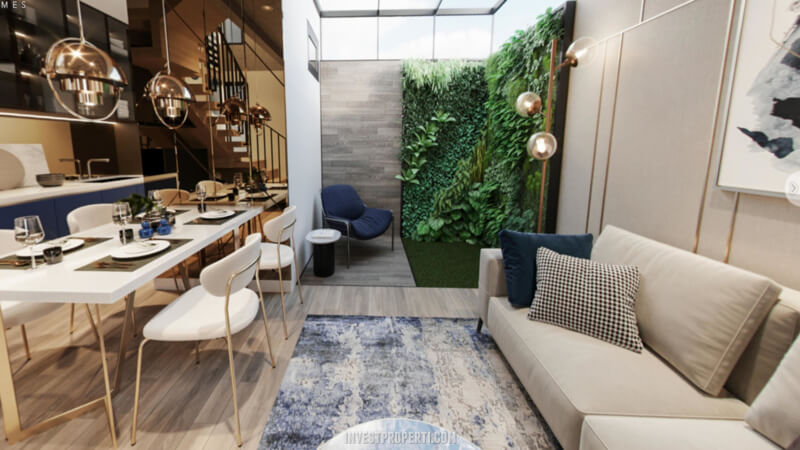 Desain Rumah Cendana Homes Tipe 1 - Living Room