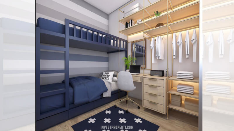 Desain Rumah Cendana Homes Tipe 1 - Small BedRoom