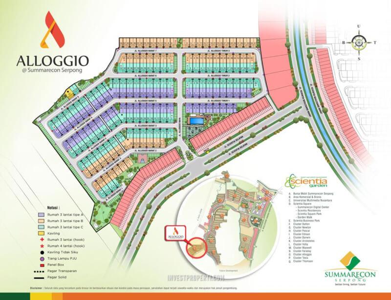 Lokasi Cluster Alloggio Summarecon Serpong