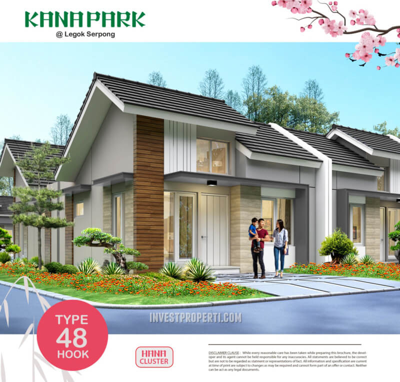 Rumah Kana Park Cluster Hana Tipe 48 Hook