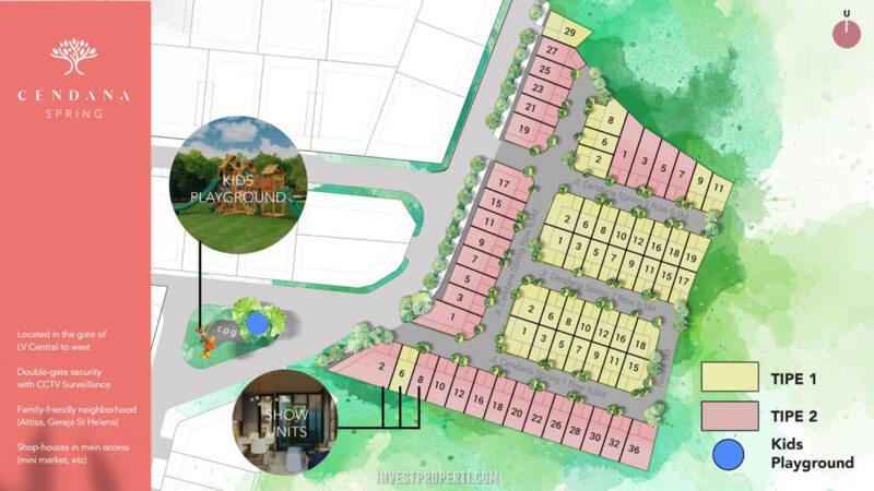 Siteplan Cendana Springs Lippo Karawaci
