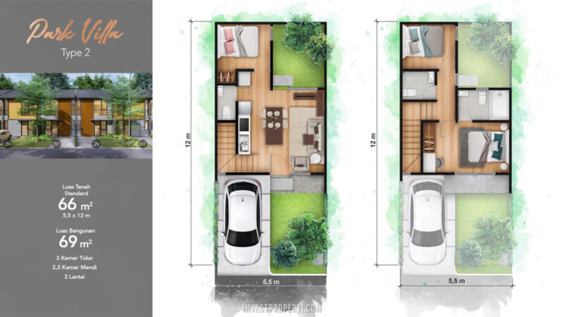 Tipe 2 Rumah Cendana Homes Lippo Karawaci
