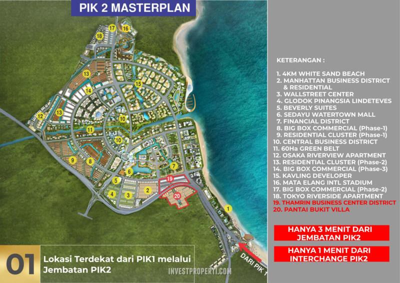 Lokasi Pantai Bukit Villa PIk2