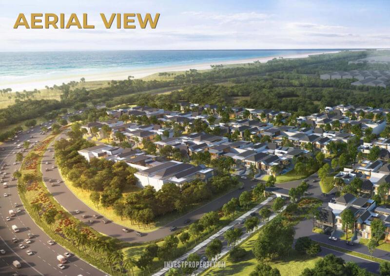 Aerial View Pantai Bukit Villa PIK2