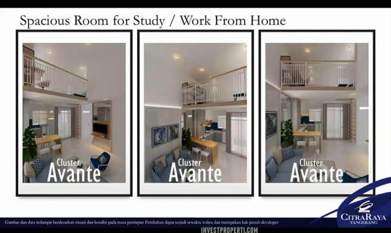Interior Rumah Avante CitraRaya - Studyroom