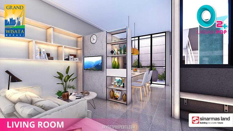 Interior Rumah O2+ Urban Pop Grand Wisata Bekasi - Living Room