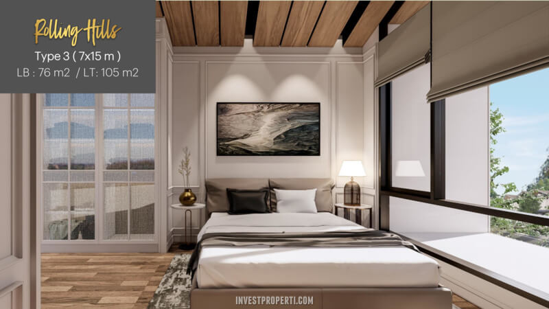 Interior Rumah Rolling Hills Karawang Tipe 3 - Bedroom