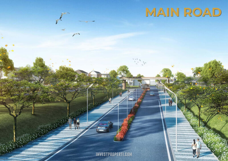Jalan Utama Pantai Bukit Villa PIk2