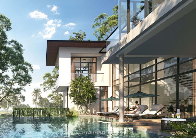 Kolam Renang Rumah Pantai Bukit Villa PIK2