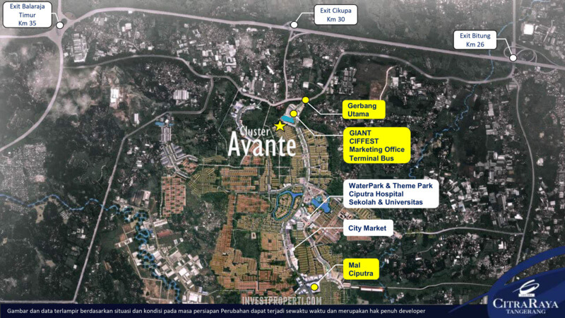 Lokasi Cluster Avante CitraRaya