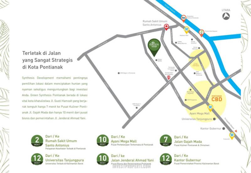 Peta Lokasi Green Synthesis Pontianak