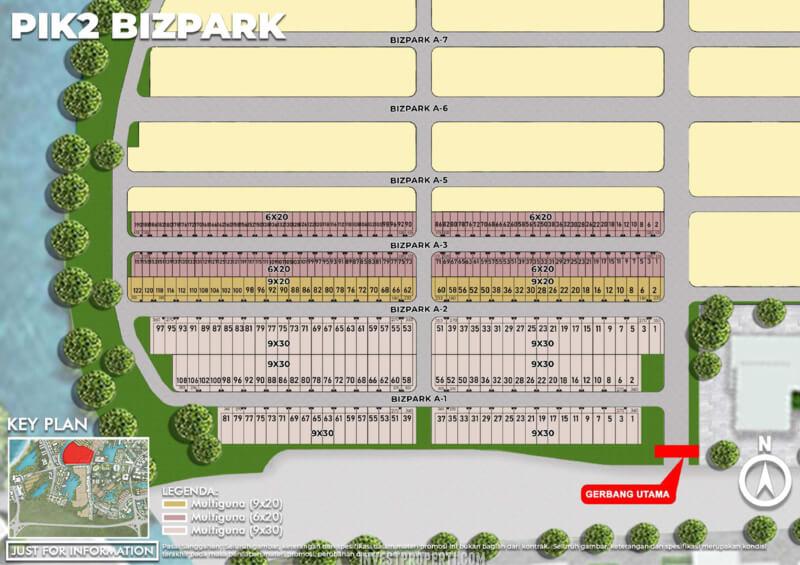PIK2 BizPark Jakarta Siteplan - Tahap 1