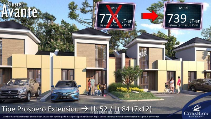 Rumah Avante CitraRaya TIpe Prospero Ext.