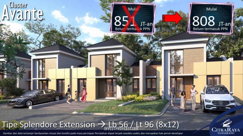 Rumah Avante CitraRaya TIpe Spelendore Extension