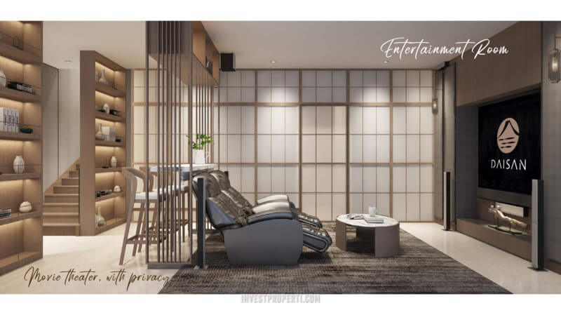 Rumah Cluster Tokyo Daisan Lavon 3 Tangerang - The Courtyard Entertainment Room Interior