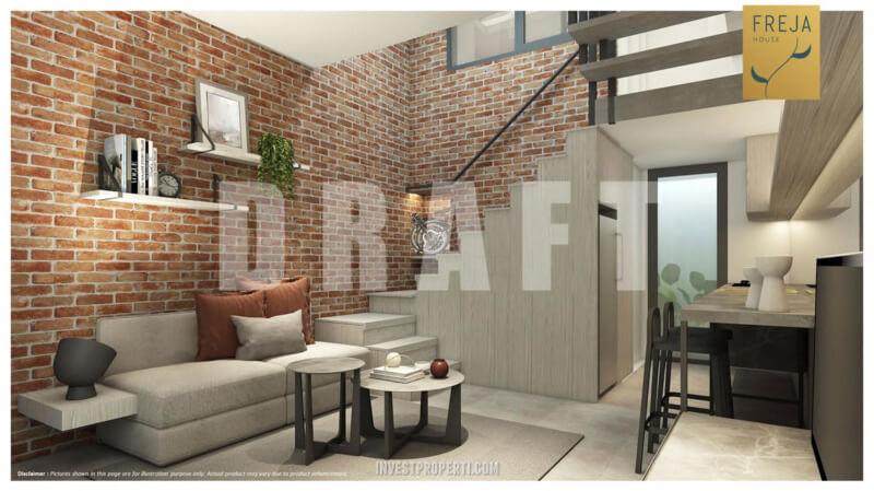 Interior Rumah Freja BSD - Living Room
