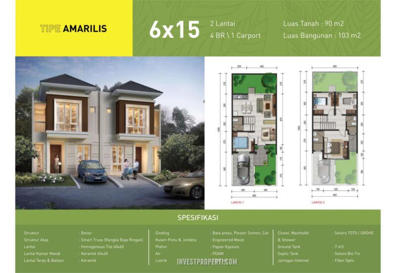 Rumah Green Synthesis Pontianak Tipe Amarilis