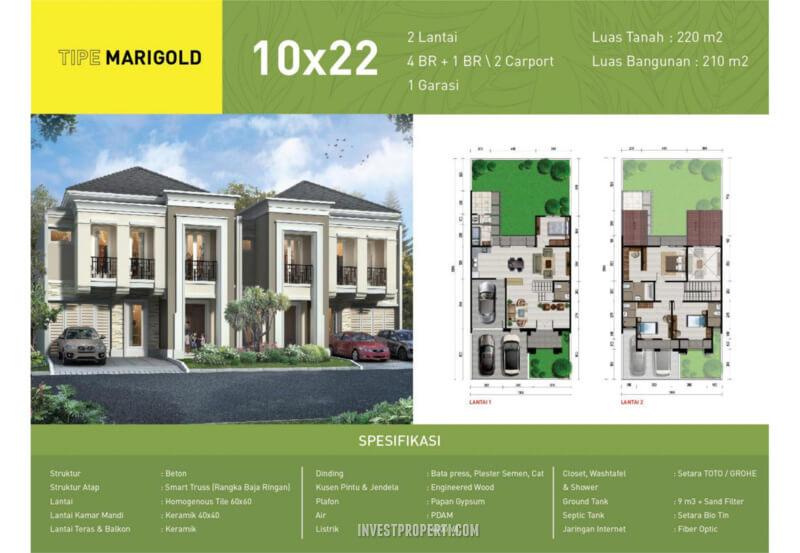 Rumah Green Synthesis Pontianak Tipe Marigold