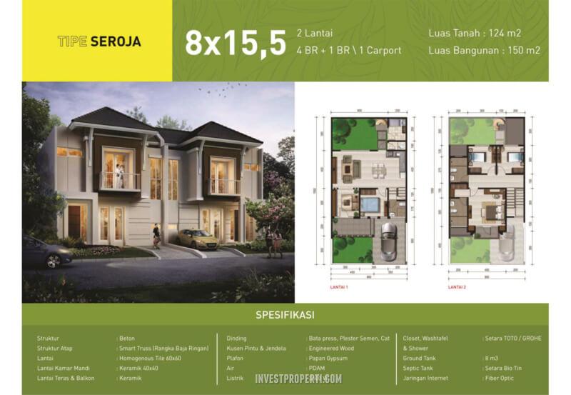 Rumah Green Synthesis Pontianak Tipe Sejora