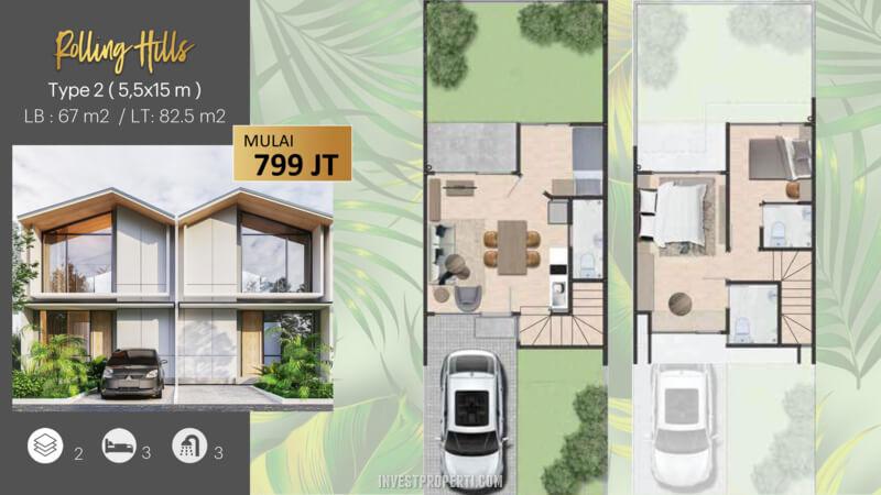Rumah Rolling Hills Karawang Tipe 2