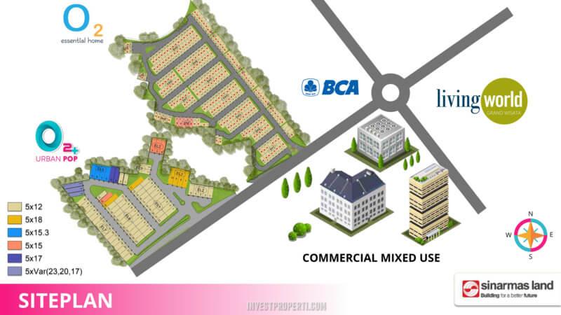 Siteplan Cluster O2+ Urban Pop Grand Wisata Bekasi