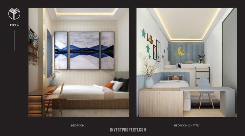 Bedroom Rumah Sentosa Park Tangerang Tipe 4
