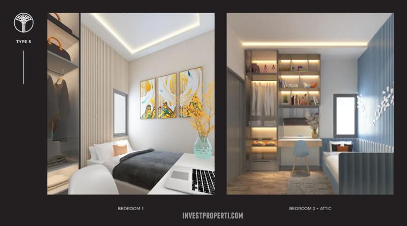 Bedroom Rumah Sentosa Park Tangerang Tipe 5