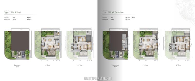 Denah Rumah Agathis Golf Residence Summarecon Bogor Tipe T Hoek