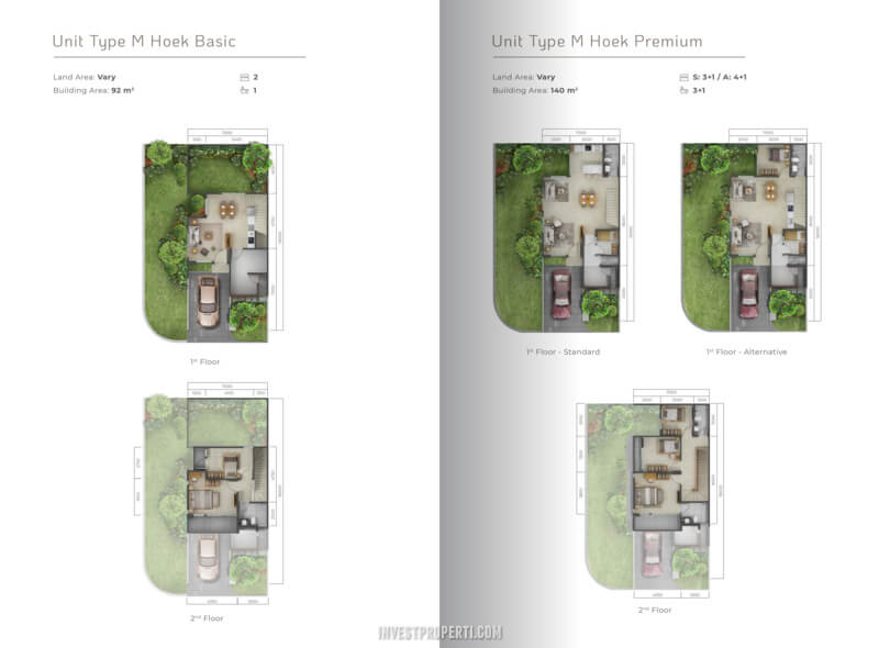 Denah Rumah Mahagony Residence Tipe M Hoek