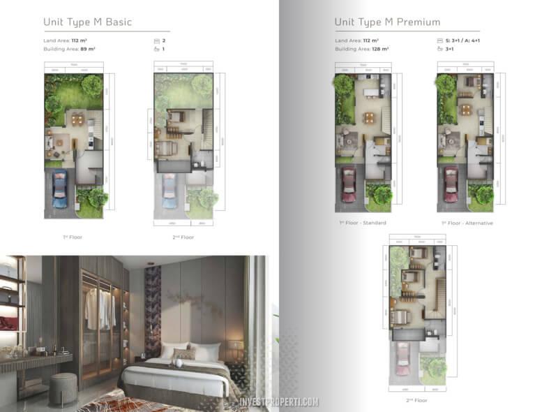 Denah Rumah Mahagony Residence Tipe M