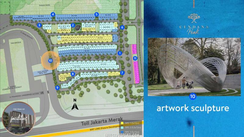 Fasilitas Cendana Peak Avenue Plaza - Artwork Sclupture